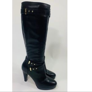 Cole Haan Air cara black leather platform boots